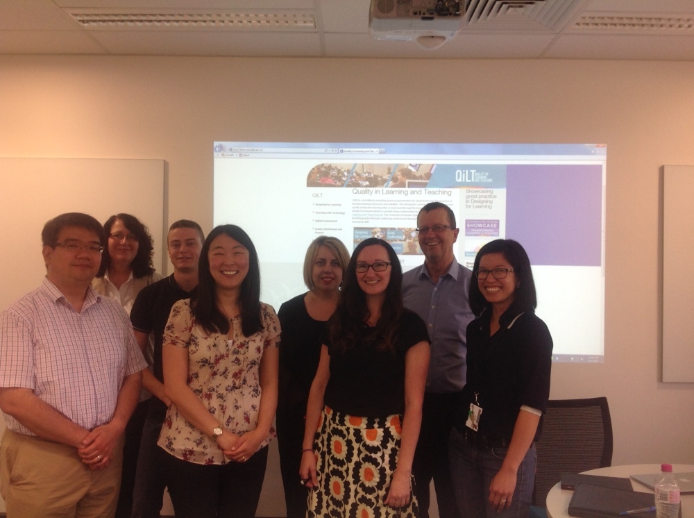 photo of Liz and Evonne meeting with UWS colleagues